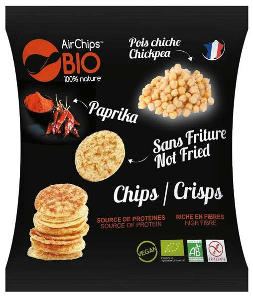 Chips Pois Chiche et Paprika - AirChips Nutrition en stock